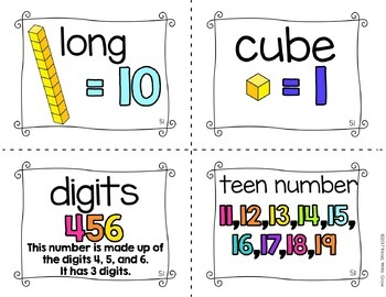 Everyday Math: Grade 1-Unit 5 {Vocabulary Word Wall}