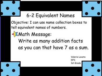 Everyday Math: Grade 1: Unit 6 Developing Fact Power Promethean Board Flipchart