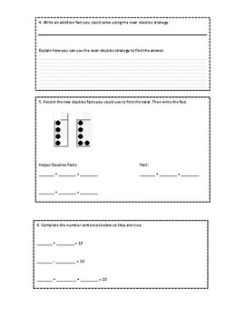 Everyday Math Grade 1 Unit 6 Review (version 2)