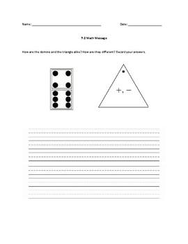Everyday Math Grade 1 Unit 7 Math Messages