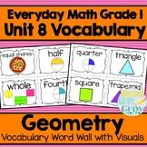Everyday Math: Grade 1-Unit 8 {Vocabulary Word Wall}