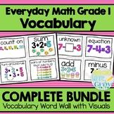 Everyday Math Grade 1 Vocabulary Word Wall {BUNDLE}