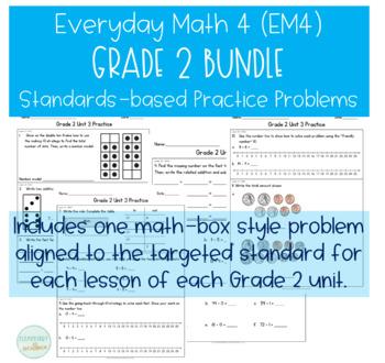 Everyday Math Grade 2 Extra Practice - Growing Bundle