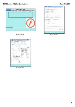 Everyday Math Grade 2 Lesson 3.1(Day 2)