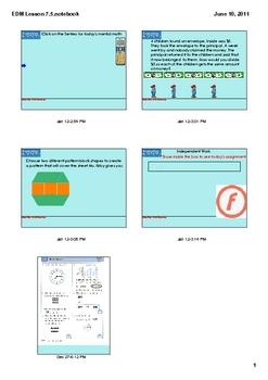 Everyday Math Grade 2 Lesson 7.5