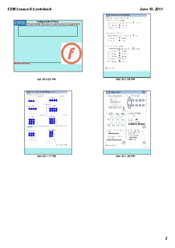 Everyday Math Grade 2 Lesson 8.5