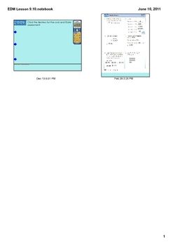 Everyday Math Grade 2 Lesson 9.10