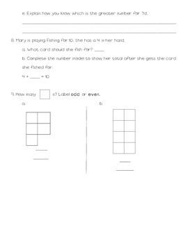 Everyday Math Grade 2 Unit 1 Review
