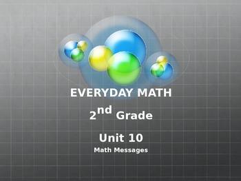 Everyday Math Grade 2 Unit 10 Math Messages