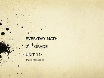 Everyday Math Grade 2 Unit 11 Math Messages