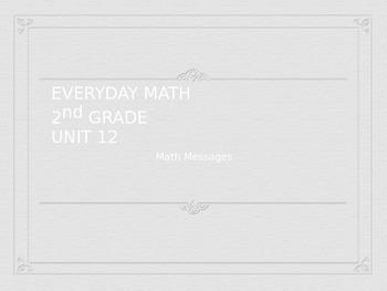 Everyday Math Grade 2 Unit 12 Math Messages