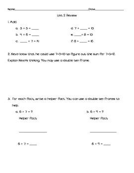 Everyday Math Grade 2 Unit 2 Review