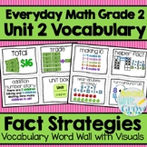 Everyday Math: Grade 2-Unit 2 {Vocabulary Word Wall}