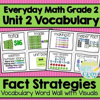 Everyday Math: Grade 2-Unit 2 {Vocabulary Word Wall}