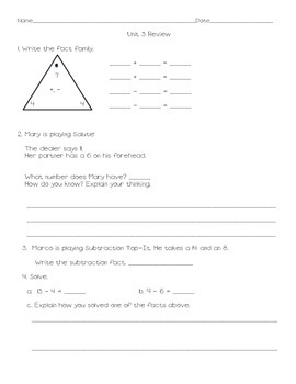 Everyday Math Grade 2 Unit 3 Review