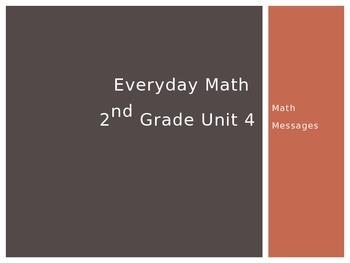 Everyday Math Grade 2 Unit 4 Math Messages