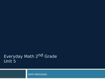 Everyday Math Grade 2 Unit 5 Math Messages