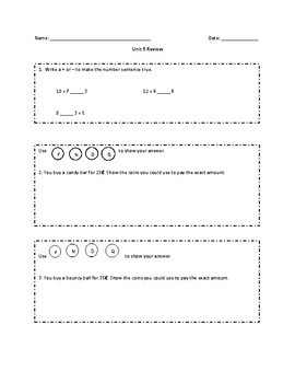 Everyday Math Grade 2 Unit 5 Review