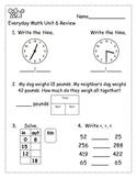 Everyday Math Grade 2 - Unit 6 Review