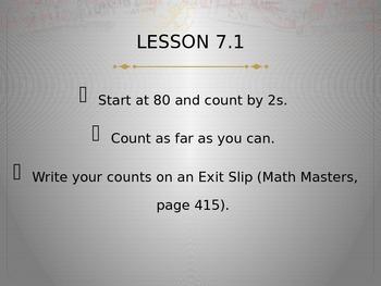 Everyday Math Grade 2 Unit 7 Math Messages