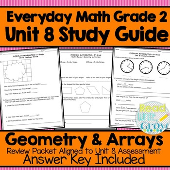 Everyday Math Grade 2 Unit 8 Study Guide/Review {Geometry & Arrays}