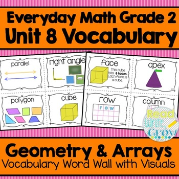 Everyday Math: Grade 2-Unit 8 {Vocabulary Word Wall}