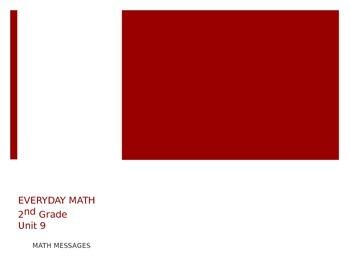 Everyday Math Grade 2 Unit 9 Math Messages