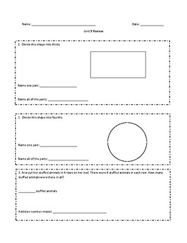 Everyday Math Grade 2 Unit 9 Review