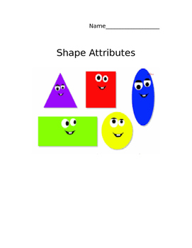 Everyday Math Grade 3 (CCSS) Unit 6 Shape Attributes and Vocabulary Journal