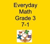 Everyday Math Grade 3 Lesson 7-1