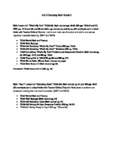 Everyday Math Grade 3 Lesson Plans Unit 3 (Orange book wit