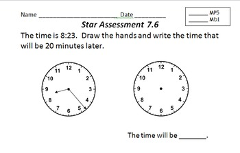 Everyday Math Grade 3 Star Assessments RSAs for Units 1-11 (common core aligned)