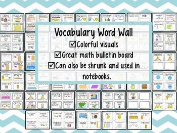 Everyday Math Grade 3-Study Guides & Vocabulary Word Wall *BUNDLE*