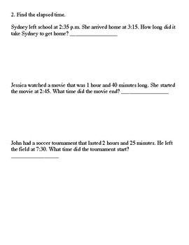Everyday Math Grade 3 Unit 1 Quizzes