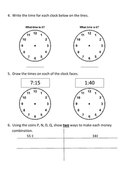 Everyday Math, Grade 3, Unit 1 Review Worksheet #6