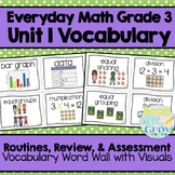 Everyday Math: Grade 3-Unit 1 {Vocabulary Word Wall}