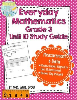Everyday Math Grade 3 Unit 10 Review/Study Guide {Measurement & Data}