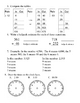 Everyday Math, Grade 3, Unit 2 Review Worksheet #2
