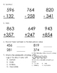 Everyday Math, Grade 3, Unit 3 Review Worksheet