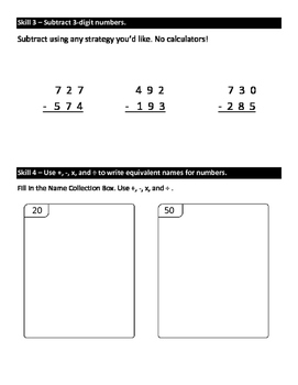 Everyday Math Grade 3 Unit 3 Study Guide EM4