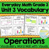 Everyday Math: Grade 3-Unit 3 {Vocabulary Word Wall}