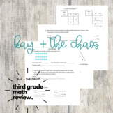 *Old Product* Grade 3 Math (EDM Unit 4) Review/Study Guide