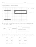 Everyday Math, Grade 3, Unit 4 Review Worksheet
