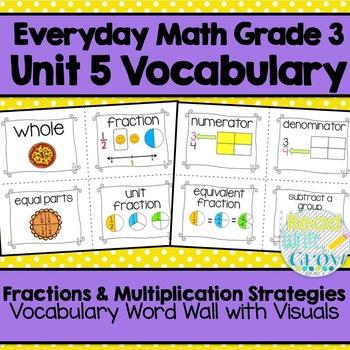 Everyday Math: Grade 3-Unit 5 {Vocabulary Word Wall}