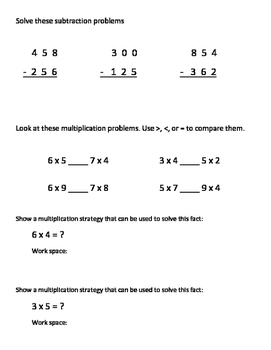 Everyday Math Grade 3 Unit 6 Study Guide EM4