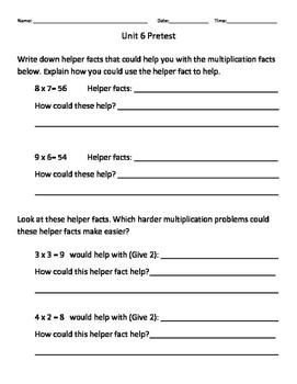Everyday Math Grade 3 Unit 6 Study Guide EM4