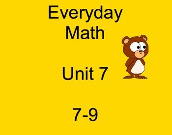 Everyday Math, Grade 3, Unit 7, Lesson 9