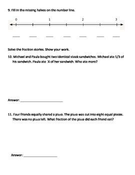 Everyday Math Grade 3 Unit 7 Pretest EM4