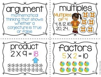 Everyday Math: Grade 3-Unit 8 {Vocabulary Word Wall}