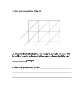 Everyday Math Grade 3 Unit 9 Alternative Test